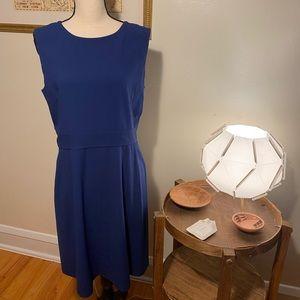 BCBG MaxAzria Blue Crepe A-Line Dress
